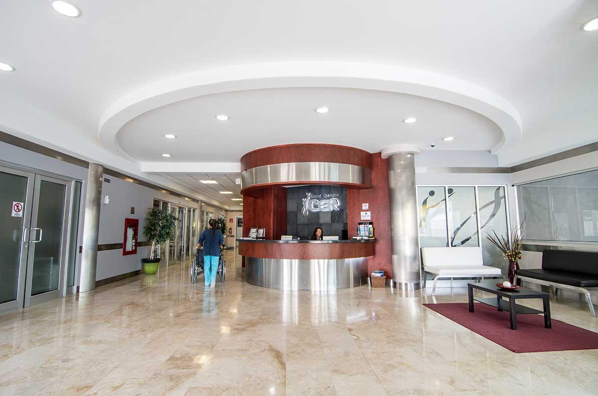 Plastic surgery clinic Tijuana lobby