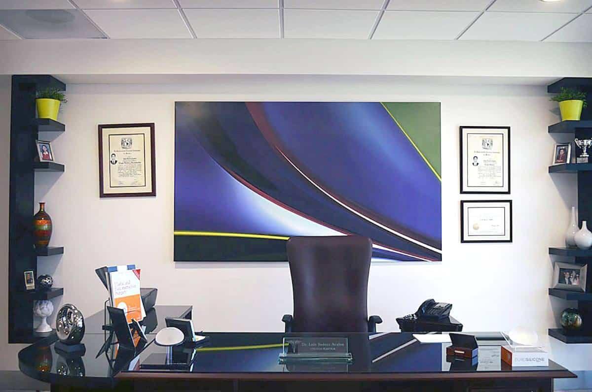 Plastic surgery consultation room